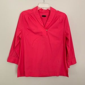 Talbots 3/4 sleeve poplin Top